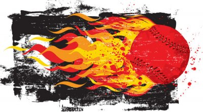 Sticker Flaming Red Fastball
