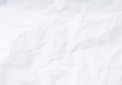 Sticker Flat crumpled white paper texture background