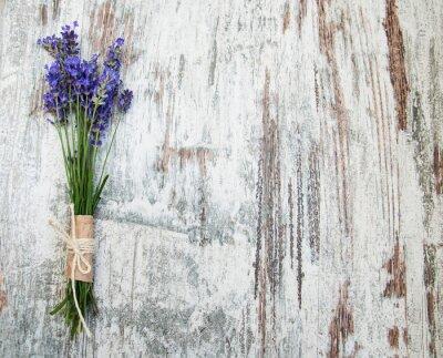 Sticker fleurs de lavande