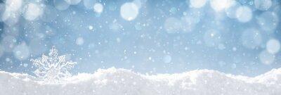 Sticker Flocon de neige sur la neige