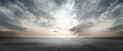 Sticker Floor Background Scene with Dark Cloud Horizon Sky