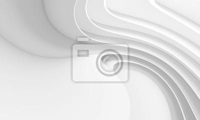 Sticker Fond abstrait architecture. Bâtiment circulaire blanc