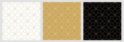 Sticker Fond abstrait étoile transparente motif avec des lignes élégantes vecteur doré