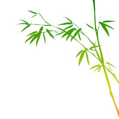Sticker fond avec des branches de bambou