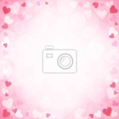 Fond avec des coeurs roses