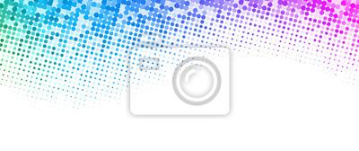 Sticker Fond blanc avec motif de demi-teintes en pointillé coloré.
