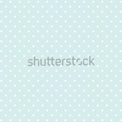 Sticker fond bleu à pois v2