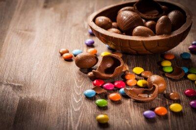 Sticker Fond chocolat de Pâques