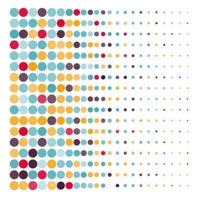 Sticker Fond, coloré, pointillé, cercles, vecteur