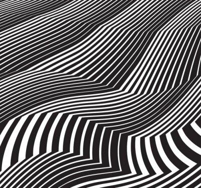 Sticker Fond d'art optique fond d'écran noir et blanc