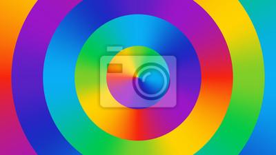 Fond d'écran abstrait coloré composé de cercles colorés dégradés lumineux. Palette de couleurs. Fond de couleur amusant, brillant et joyeux. Spectre de couleurs RVB art.