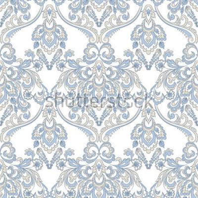 Sticker Fond d'écran floral de vecteur. Ornement floral baroque classique. Modèle vintage sans soudure