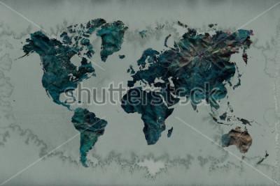 Sticker fond de carte du monde vintage