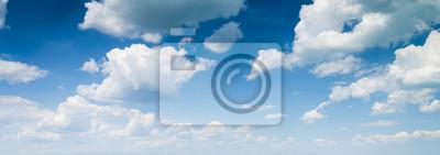 Sticker fond de ciel bleu avec des nuages
