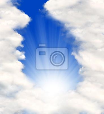 fond de ciel ensoleillé