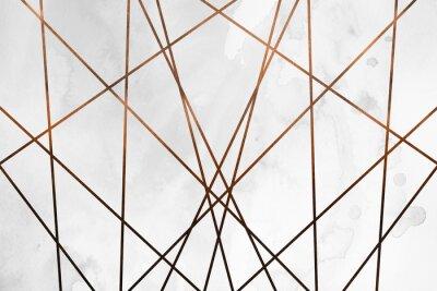 Sticker Fond de cuivre crémeux contemporain moderne. Texture de fille de luxe. Fond délicieux et propre avec des éléments géométriques et artistiques.