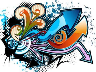 Sticker Fond de graffiti