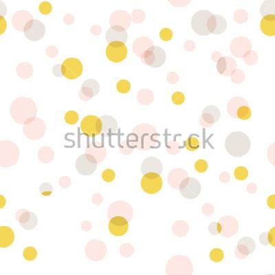 Sticker Fond de gros confettis abstract Vector moderne. Motif de points colorés sans soudure.