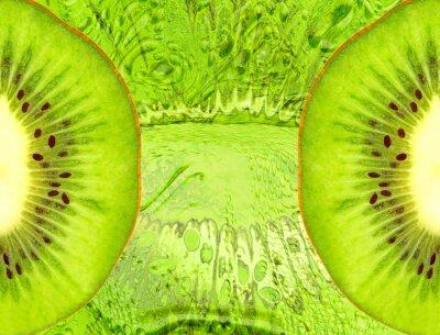 Sticker fond de l'alimentation avec des tranches de kiwi vert.
