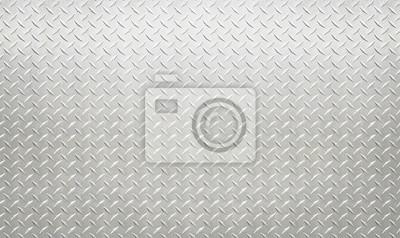 Sticker Fond de modèle en acier diamant argent mur industriel blanc