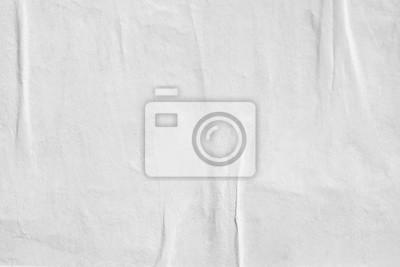 Sticker Fond de texture de papier froissé blanc blanc froissé Vieille surface de toile de fond de texture affiche vide pour le texte