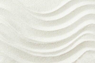 Sticker Fond de texture de sable blanc avec motif ondulé