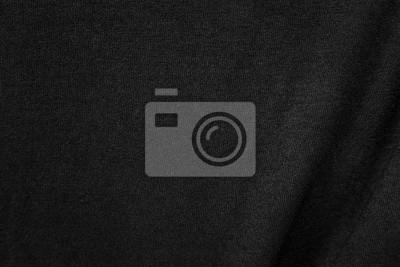 Sticker Fond de texture de tissu froissé noir. Surface de la surface en coton.
