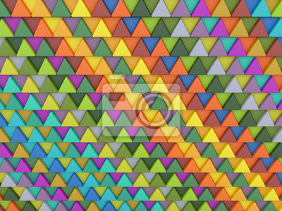 Fond de triangles colorés