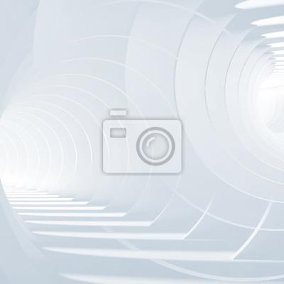 Fond de tunnels blancs bleus abstraits