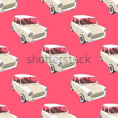Sticker Fond de voitures. Vecteur de voiture rétro