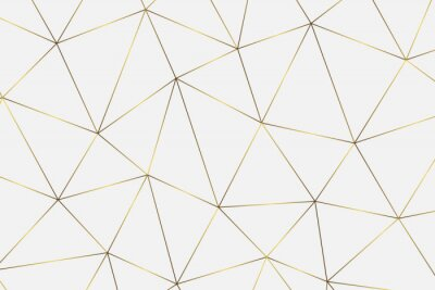 Sticker fond géométrique doré