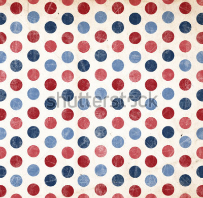 Sticker Fond patriotique - pois rouges et bleus