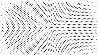 Sticker Fond pointillé en demi-teintes. Motif de vecteur effet demi-teinte. Points de cercle isolés sur fond blanc.