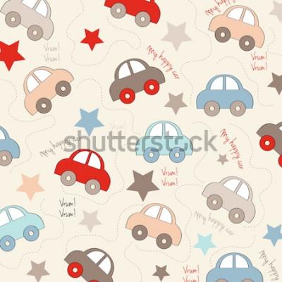 Sticker fond transparent avec des voitures, illustration vectorielle