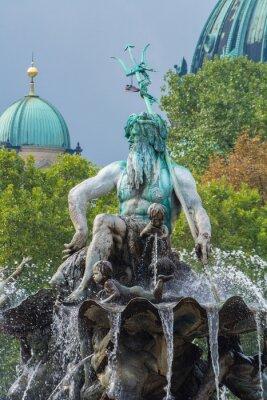 Sticker Fontaine de Neptune et de la cathédrale de Berlin, Berlin