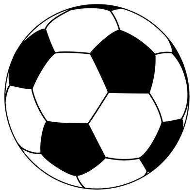 Sticker fooball noir-blanc - illustration simple de vecteur