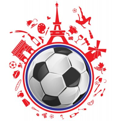 Sticker Football, balle, france, Symbole