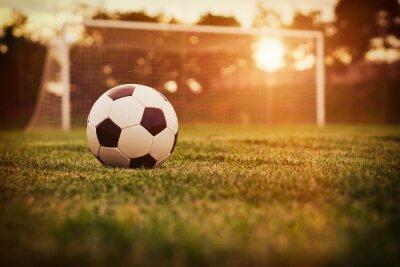 Sticker Football coucher du soleil