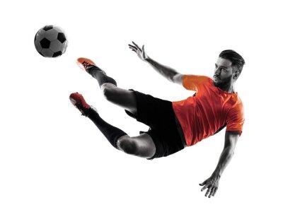 Sticker Football, joueur, homme, isolé, silhouette