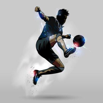 Sticker Football saut balle touche 02
