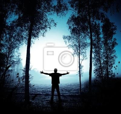 Forêt fantasmagorique et mystique