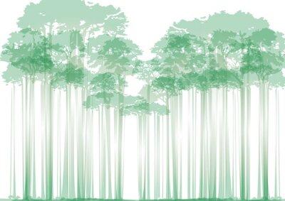 Sticker Forêt, neutre, fond