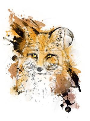 Fox. Dessin graphique.