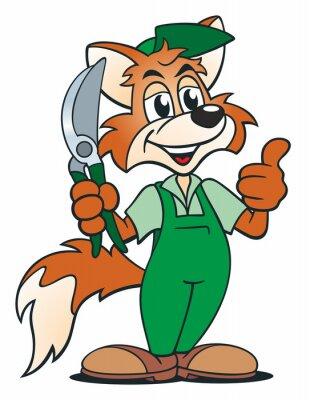 Sticker Fox Gardener