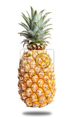 Frais, ananas, isolé