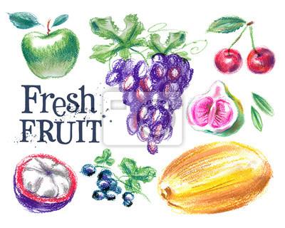 frais modèle de conception de logo de vecteur de fruits. alimentaire mûrs ou de la récolte