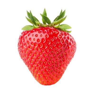 Sticker fraises isolé sur le fond blanc