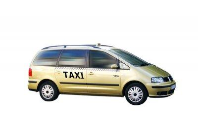 Sticker Freigestellt Taxi Bus