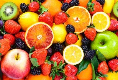 Sticker Fresh fruits mixed.Fruits background.