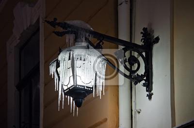 Frozen streetlight
